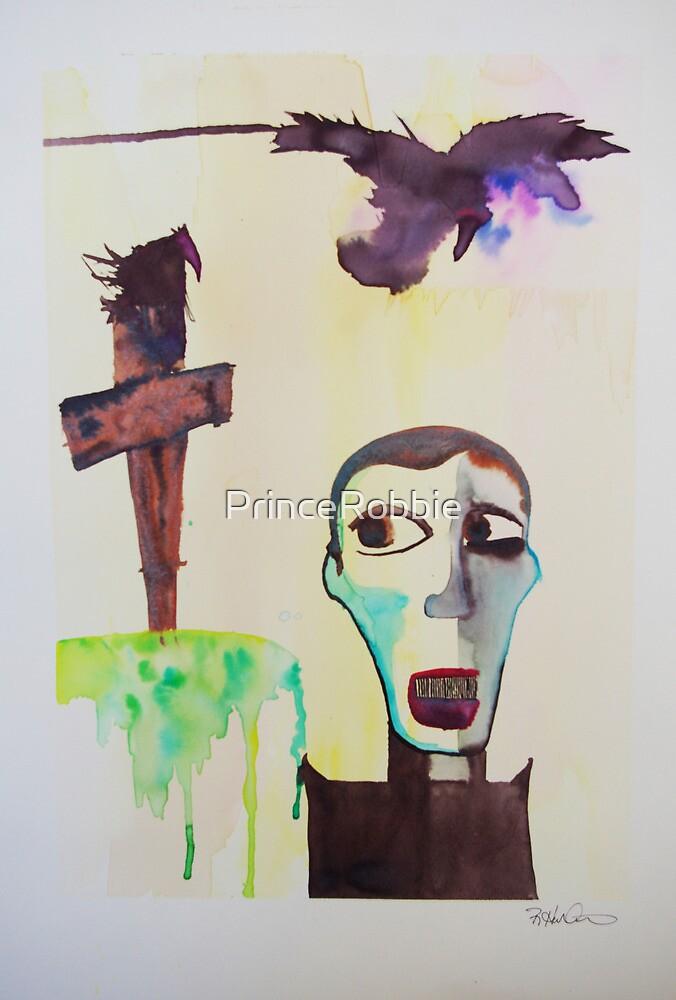 'The Holy Man. Huginn and Muninn sense Them coming.' by PrinceRobbie