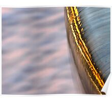 Abstract Water Fountain At Sunset Poster