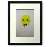 """Lights in the sky and how it will affect your weekend at 10."" Talking Head #2 Framed Print"