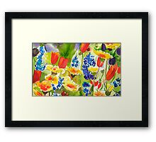 Lupine and California Poppies Framed Print