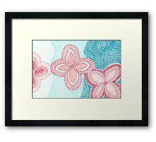 Mosaic Flowers Framed Print