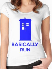 Basically, Run Women's Fitted Scoop T-Shirt
