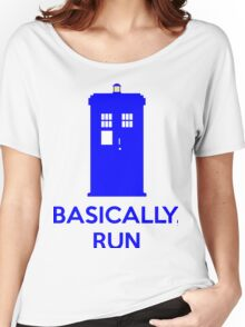 Basically, Run Women's Relaxed Fit T-Shirt