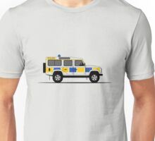 Land Rover Defender 110 Station Wagon Police Car Unisex T-Shirt