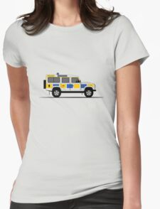 Land Rover Defender 110 Station Wagon Police Car Womens Fitted T-Shirt