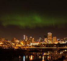 Northern Lights Edmonton by John Fletcher