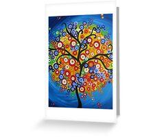 rainbow tree - vertical Greeting Card