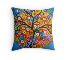 rainbow tree - vertical Throw Pillow