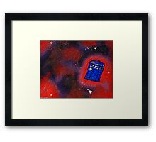 Police Box in Flight Framed Print
