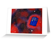 Police Box in Flight Greeting Card