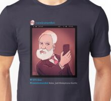 instaGrahamBell (for dark background)  Unisex T-Shirt
