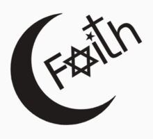 Faith - Black Graphic by Ron Marton