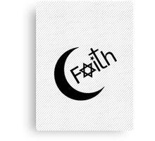 Faith - Black Graphic Canvas Print