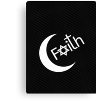 Faith - White Graphic Canvas Print