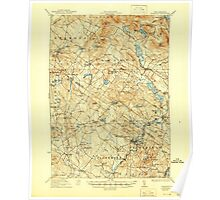 USGS TOPO Map New Hampshire NH Gilmanton 330045 1927 62500 Poster