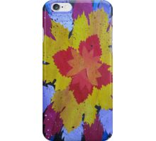 collage of leaves made from recycled math books iPhone Case/Skin