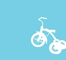 White Trike on Blue by Starsania