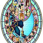 Kingdom Hearts Stained Glass by KaneDeanMonroe