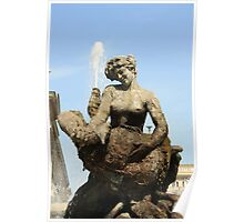 Rome Statue of the fountain dell'Esedra Poster