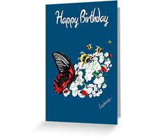 Happy Birthday Card - Butterfly Dance Greeting Card