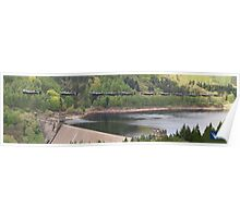 Dambusters 70 Years On - Flypast At The Derwent Dam - 8 Poster