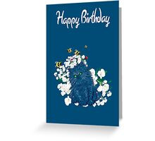 Happy Birthday Card - Persian Kitten Greeting Card