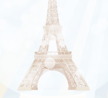 Retro poster with Eiffel-tower inside a snowglobe Sticker