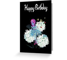 Happy Birthday Card - Flower Fairy Natures Gift Greeting Card