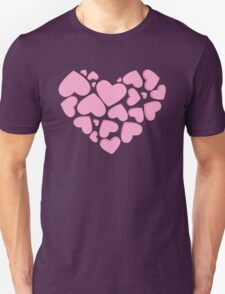 Heart Made of Hearts - Pink Unisex T-Shirt