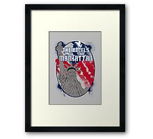 the angels take Manhattan Framed Print