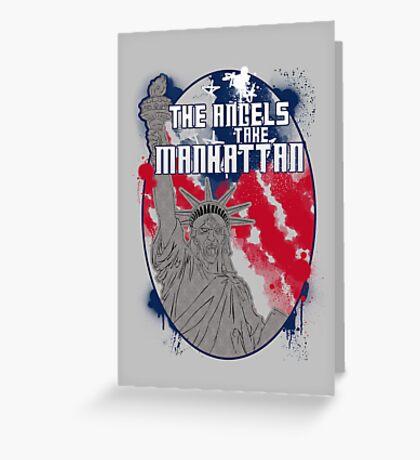 the angels take Manhattan Greeting Card