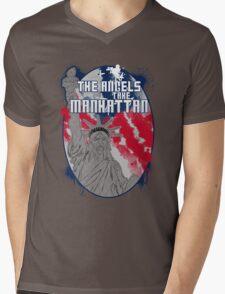 the angels take Manhattan Mens V-Neck T-Shirt