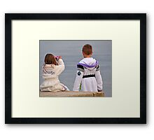 Young Photographers Framed Print