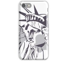 Liberty statue drawing iPhone Case/Skin