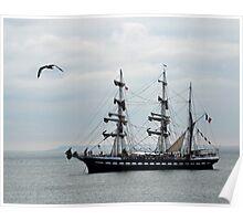 Belem French Training Ship At  Lyme.Dorset.UK  Poster