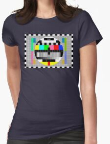 Television Test Pattern Womens Fitted T-Shirt