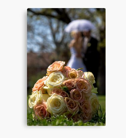 wedding bunch Canvas Print