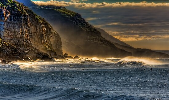 Frosty Coalcliff cliffs by Chris Brunton