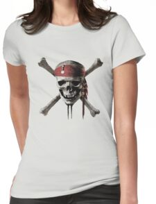 Pirates Caribbean Womens Fitted T-Shirt