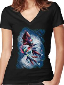 Sneasel and Weavile Women's Fitted V-Neck T-Shirt
