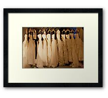 The Wong Dress For The Party Framed Print
