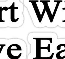 Art Will Save Earth  Sticker