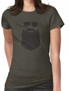 AVIATOR GLASSES AND BEARD Womens Fitted T-Shirt
