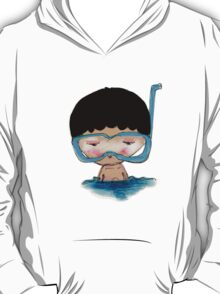 He Decided to go swimming big blue googly goggles and all, tee - by Beatrice Ajayi T-Shirt