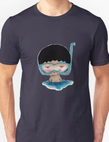 He Decided to go swimming big blue googly goggles and all, tee - by Beatrice Ajayi Unisex T-Shirt
