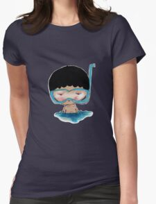 He Decided to go swimming big blue googly goggles and all, tee - by Beatrice Ajayi Womens Fitted T-Shirt