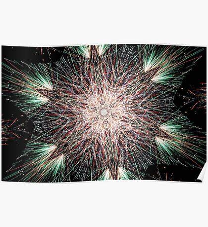 Fireworks Fractal Poster