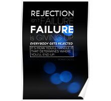 Rejection Isn't Failure Poster
