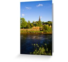 St Mary's Outside the Walls Chester Greeting Card