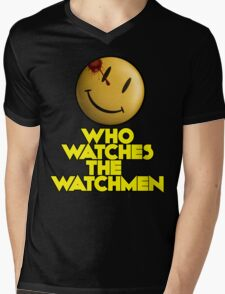 Who Watches The Watchmen Mens V-Neck T-Shirt